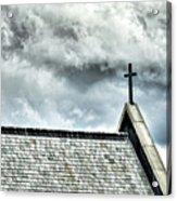 Cross Against An Angry Sky Acrylic Print