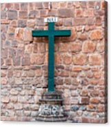 Cross And Cusco Cathedreal Acrylic Print