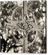 Cross At Dublin Pioneer Cemetery Acrylic Print