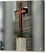Cross At Ground Zero Acrylic Print
