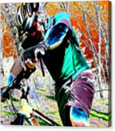 Cross Country Acrylic Print by Peter  McIntosh