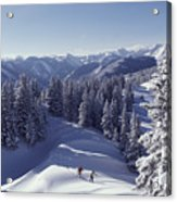 Cross-country Skiing In Aspen, Colorado Acrylic Print