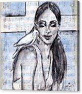 Cross Dove Acrylic Print