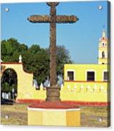 Cross In Cholula, Mexico Acrylic Print