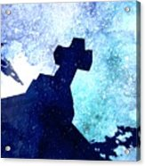 Blue Cross Acrylic Print