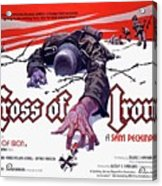 Cross Of Iron Theatrical Poster 1977 Acrylic Print