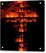 Cross On Fire Acrylic Print