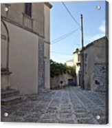 Cross Road In Sicily Acrylic Print