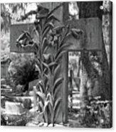 Cross Series IIi In Black And White Acrylic Print