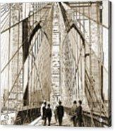 Cross That Bridge Vintage Photo Art Acrylic Print