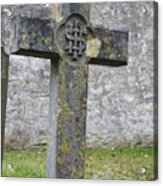 Cross Tombstone St. Mary's Wedmore Acrylic Print
