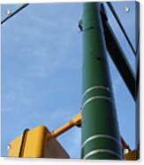 Cross Walk Pole Acrylic Print
