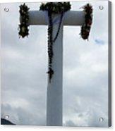 Cross With Flower Wreaths Acrylic Print