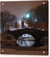 Crossing Gapstow Bridge Acrylic Print