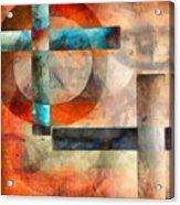 Crossroads Abstract Acrylic Print