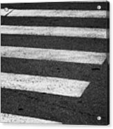 Crosswalk Acrylic Print by Gabriela Insuratelu