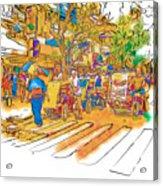 Crosswalk In The Philippines Acrylic Print by Rolf Bertram
