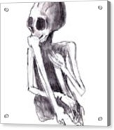 Crouched Skeleton Acrylic Print