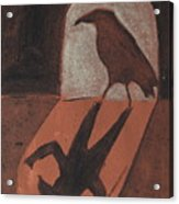 Crow In The Doorway Of Life With Woad Acrylic Print