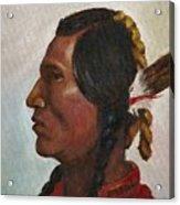 Crow Warrior Acrylic Print