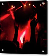 Crowd At A Rock Concert Acrylic Print