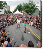 Crowd At Bele Chere Festival Acrylic Print