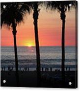 Crowd At Sunset Acrylic Print