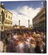 Crowded On St. Mark's Square Acrylic Print