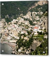 Crowded Slopes Of Amalfi Acrylic Print