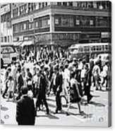 Crowded Street, Nyc, C.1960s Acrylic Print