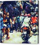 Crowded Street Acrylic Print