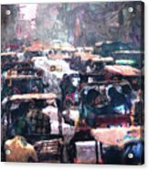 Crowded Streets Acrylic Print