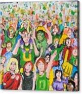 Crowds Acrylic Print