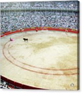 Crowds Watching A Bullfight During The July San Firmin Fiesta In Pamplona Acrylic Print