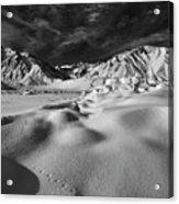 Crowley Lake Snow Fields Acrylic Print