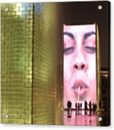 Crown Fountain At Millennium Park Acrylic Print