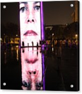 Crown Fountain Reflections Acrylic Print