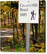 Crown Hill Road 1885 Acrylic Print