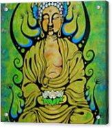 Crowned Buddha Acrylic Print