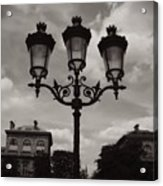 Crowned Luminaires In Paris Acrylic Print