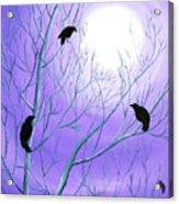 Crows On Empty Branches Acrylic Print