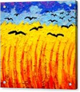Crows Over Vincent's Field Acrylic Print