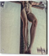 Crucified In The Street Acrylic Print