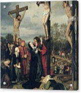 Crucifixion Acrylic Print by Eduard Karl Franz von Gebhardt