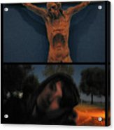 Crucifixion Acrylic Print by James W Johnson