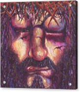 Crucifixion. Master Fully Done Acrylic Print by Jean-Marie Poisson