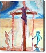 Crucifixion Of Jesus Acrylic Print