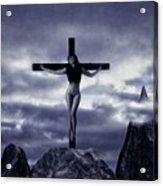 Crucifixion On The Mountain Acrylic Print