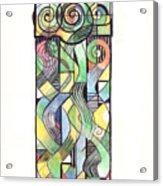 Cruciform X Acrylic Print