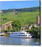 Cruise Boat, Rudesheim, Germany Acrylic Print